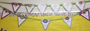 image of bunting spelling out together we re growing as readers, thinkers, and  doers